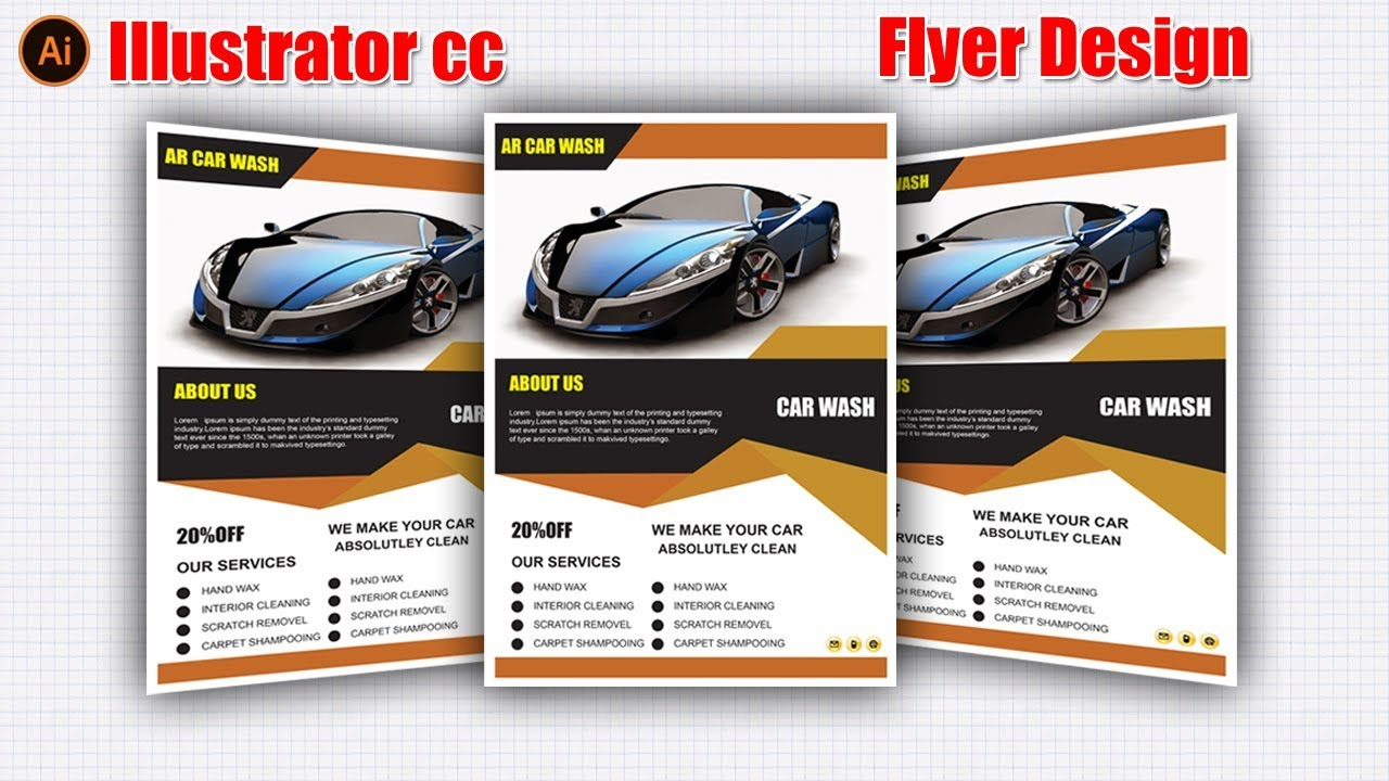 automobile brochure design - flyer design tutorial flyer design in illustrator cc 2017