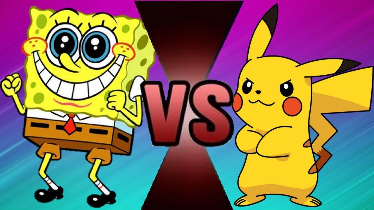 spongebob vs pikachu wwe 2k17 cartoon battle 6 youtube
