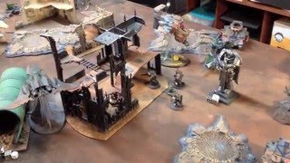 Warhammer 40,000 - Battle Report - Space Marines vs Dark Eldar 1500pts