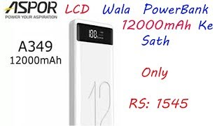 Aspor A349 12000mAh PowerBank Unboxig and Review