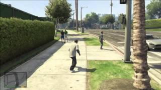 GTA V - Franklin Stalking Michael, Gets knocked out.