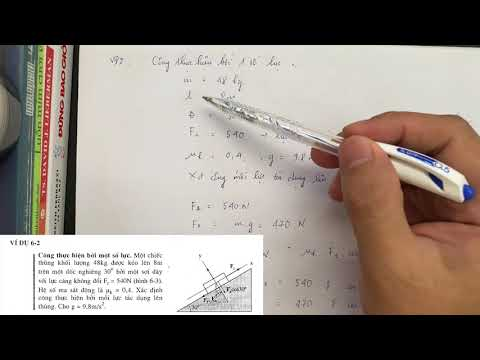 Vật lý 1 - Công và Năng lượng: #1.Công thực hiện bởi một lực không đổi