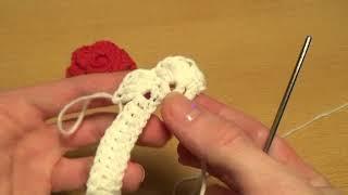 Вязание крючком для начинающих  Цветок РОЗА