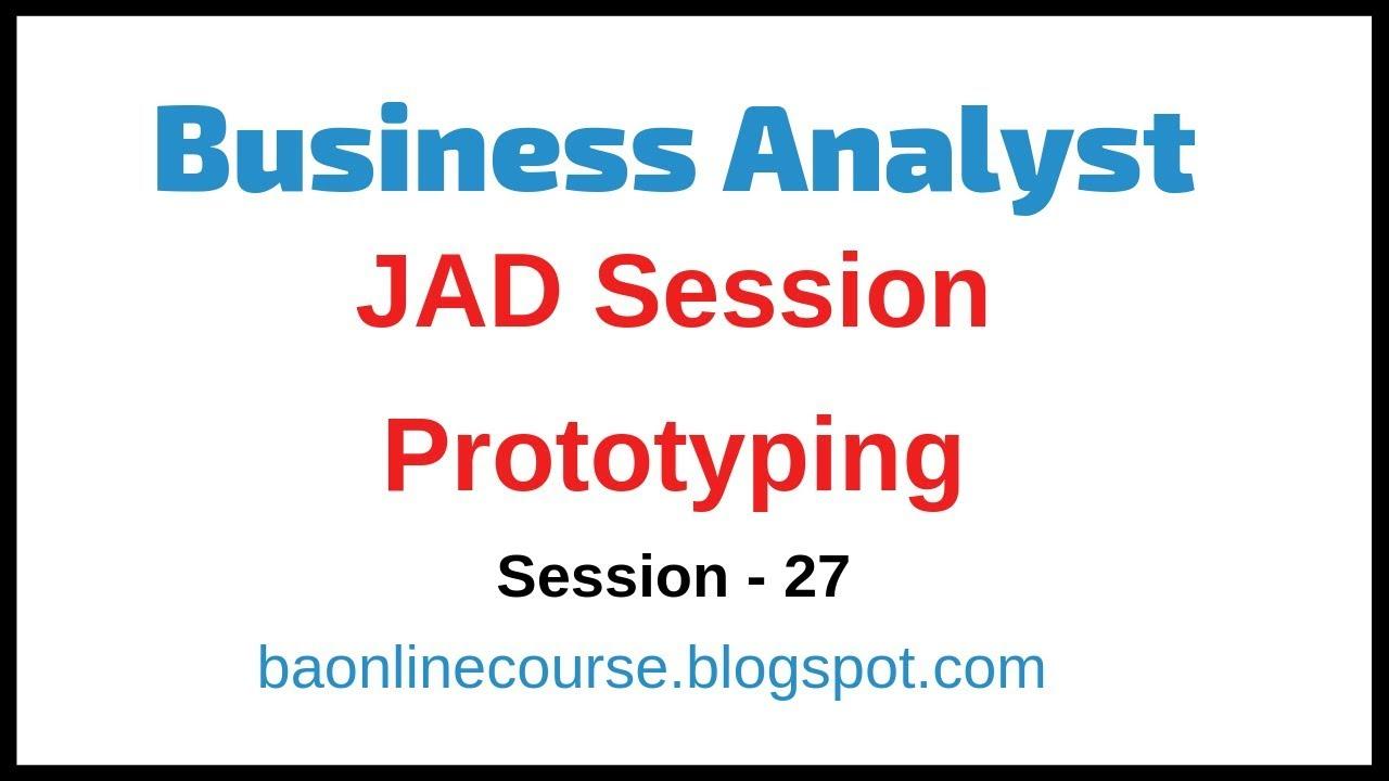 business analyst jad session tutorial