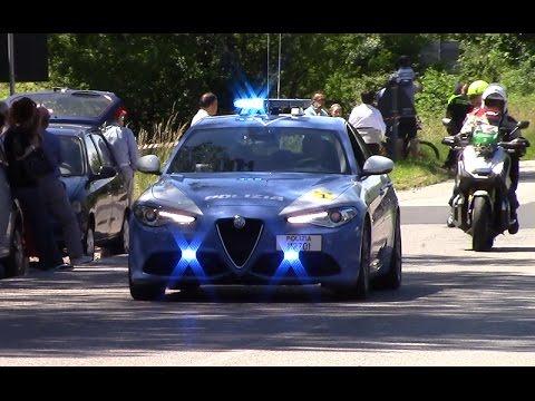 Polizia Stradale in scorta al Giro d'Italia 2017 - Italian Police escorting Giro d'Italia 2017.