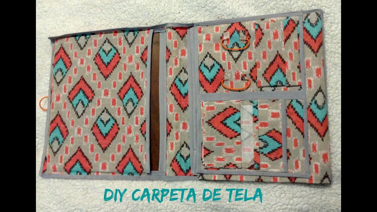 Diy carpeta con tela youtube - Como forrar muebles con tela ...