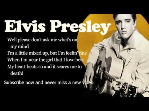 Elvis Presley  All Shook Up  Lyrics
