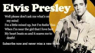Elvis Presley - All Shook Up - Lyrics