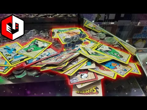 So Many Cards! Alot of Cards on The Edge at DC Comics Coin Pusher!