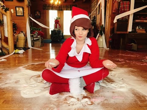 Thumbnail: Princess Ella turns into Elf on The Shelf and destroys her house. Christmas skit play