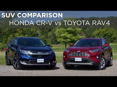 2019 Honda CR-V Vs Toyota RAV4 | SUV Comparison | Driving.ca