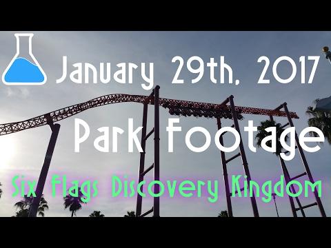 January 29th, 2017 Six Flags Discovery Kingdom Park Footage
