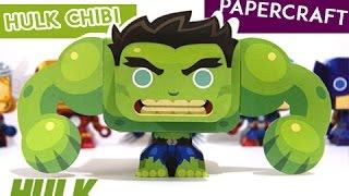 [Papercraft Tutorial]  - Chibi Hulk Avengers