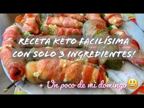 JALAPEÑOS RELLENOS  DIETA KETO   ESTA DELICIOSA RECETA SOLO TIENE 3 INGREDIENTES ? Receta de video de Keto Recipes