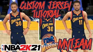 Golden State Warriors Custom Jersey Tutorial Oakland City Uniform New How To Make Nba 2k21 Myteam Youtube