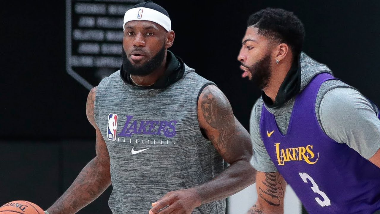 Lakers Practice Lebron James Anthony Davis Dwight Howard Sept 28 2019