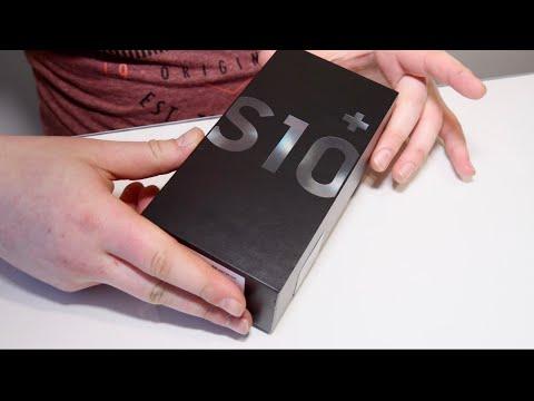 Samsung Galaxy S10+ Black 128GB Unboxing!