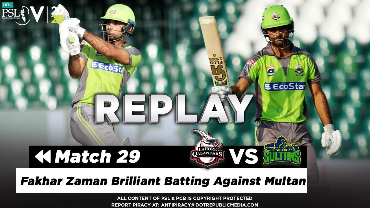 Fakhar Zaman Brilliant Batting Against Multan | Multan vs Lahore | Match 29 | PSL 2020