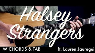 Halsey - Strangers Guitar Tutorial Lesson w Chords & TAB / Guitar Cover How To Play Easy Videos