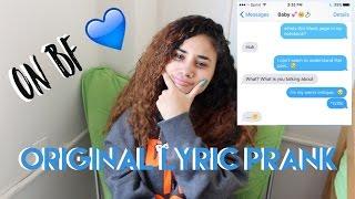 lyric prank on my boyfriend with a twist phreshdasiaa