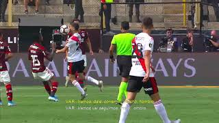 Flamengo vs River Plate,  MINUTO: 13'
