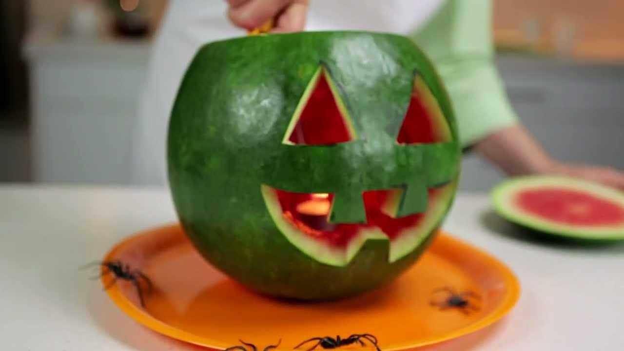 how to make a spooky watermelon jack o lantern youtube