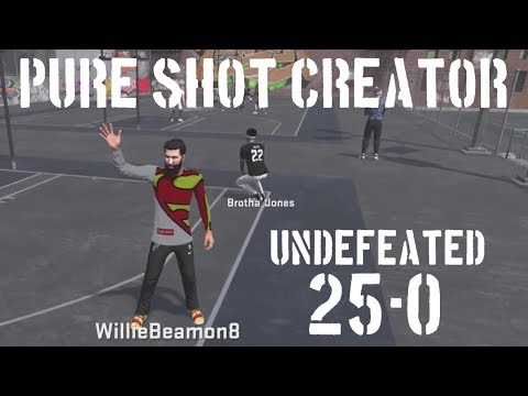 6'5 Pure Shot Creator! 25-0 Stream, Best Lineup for 3s - Undefeated!!! (NBA 2K18)