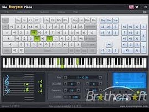 HOW TO PLAY PIANO, SYNTHESIZER ON COMPUTER, PC KEYBOARD (SOFTWARE) piano lesson