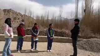 Young Girl Students of Leh Ladakh discussing various challenges they want to solve