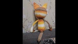 Вяжем осеннего кота крючком.  Часть 5.  Уши, хвост.