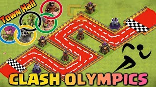 Town Hall Clash Olympics | Troops Race | Who's the Fastest ? - Clash Of Clans
