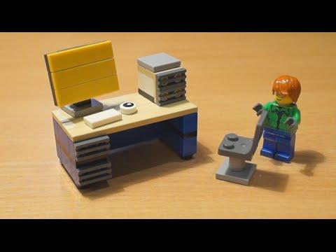 Как сделать стол для компьютера из лего