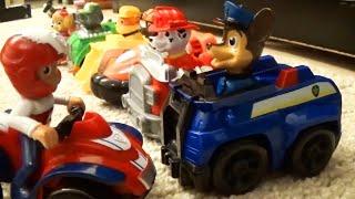 Щенячий патруль спасают город от динозавра, тигра и грабителя. Мультики для малышей. Paw patrol.