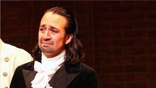 the hamilton cast moves lin manuel miranda to tears with their 2017 oscars red carpet surprise