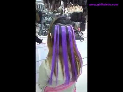 Креативное цветное колорирование на темные волосы