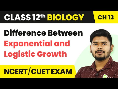 Difference Between Exponential and Logistic Growth - Organisms and Populations | Class 12 Biology