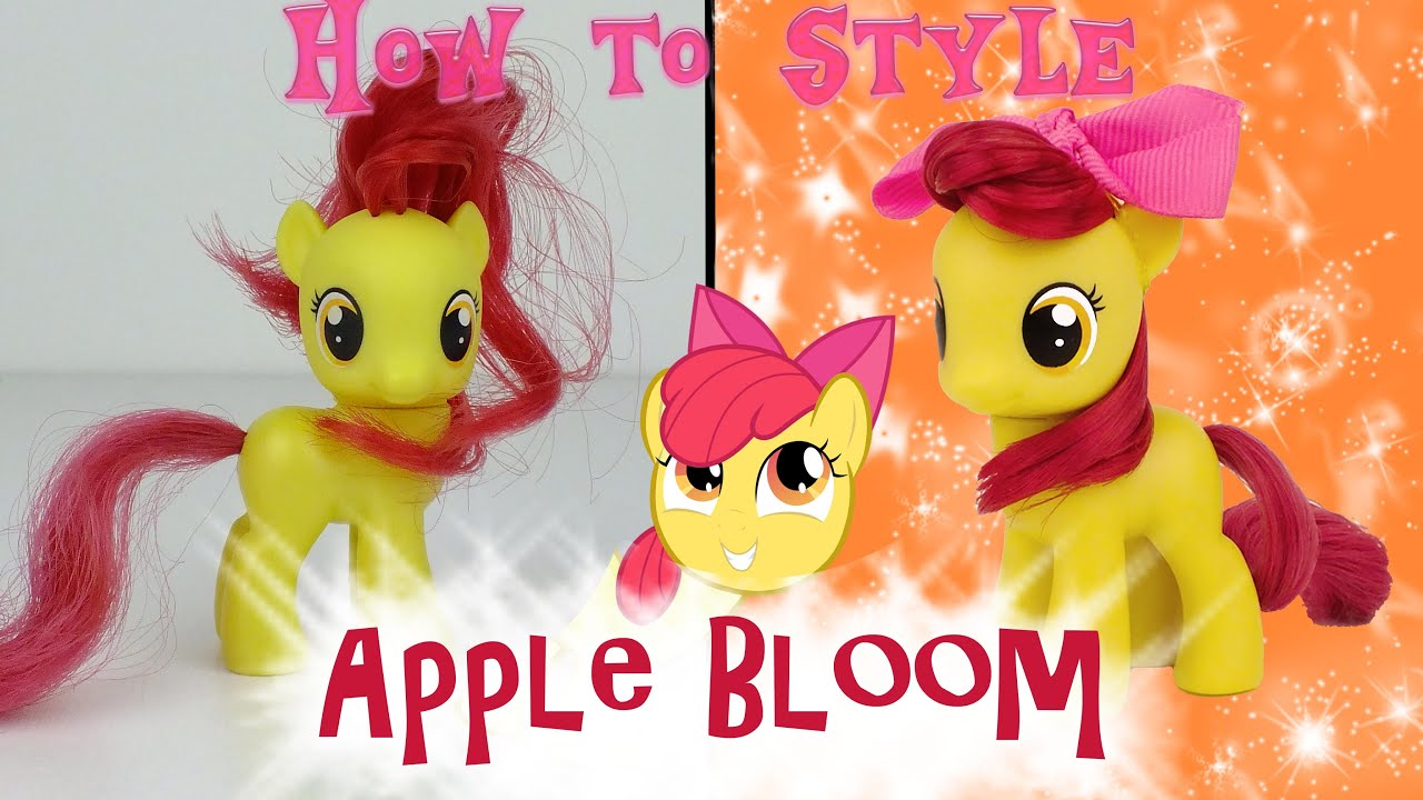 my little pony style hair mlp apple bloom hair styling tutorial how to style my 5754 | maxresdefault