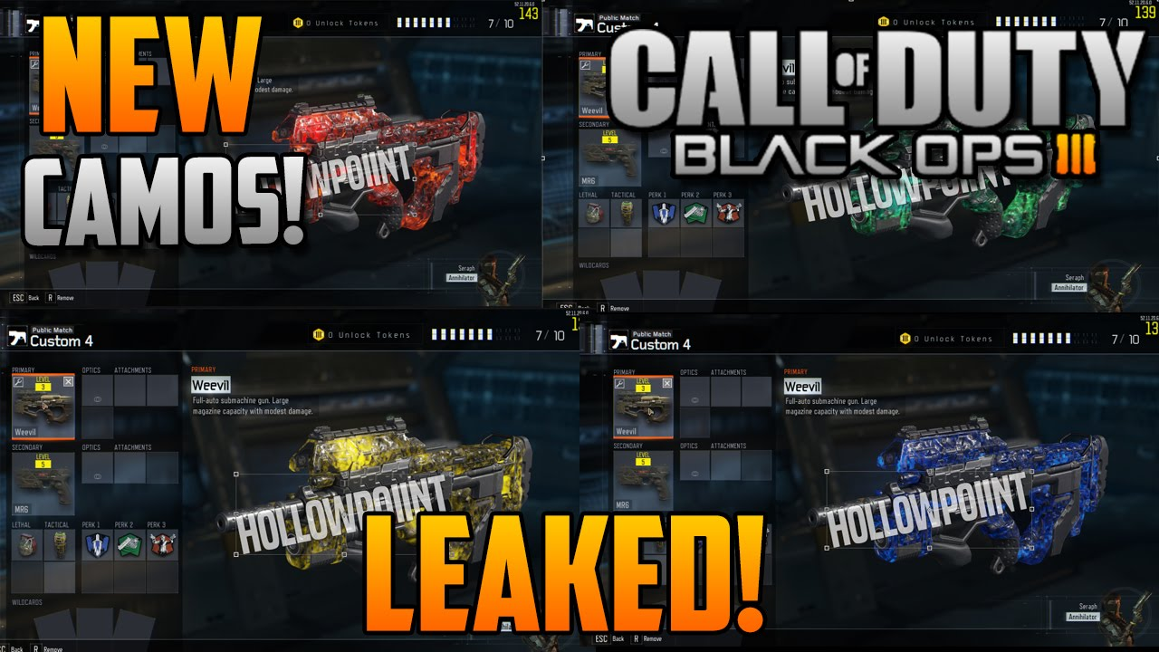 how to get the new matter camos in bo3