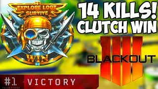 I Clutched Up Hard! Blackout 14 Kill Solo Win!