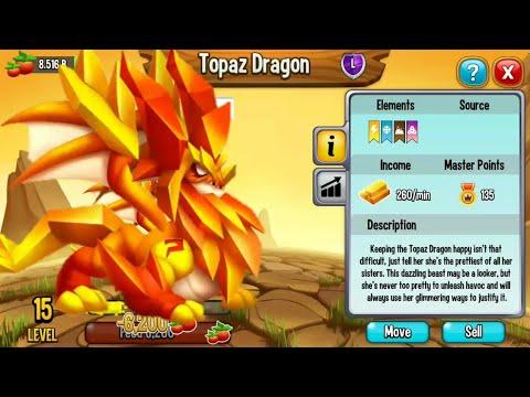 Topaz Dragon Review Dragon City Youtube