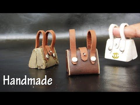 DIY Miniature Realistic  Bags #1 -  Handmade Dollhouse