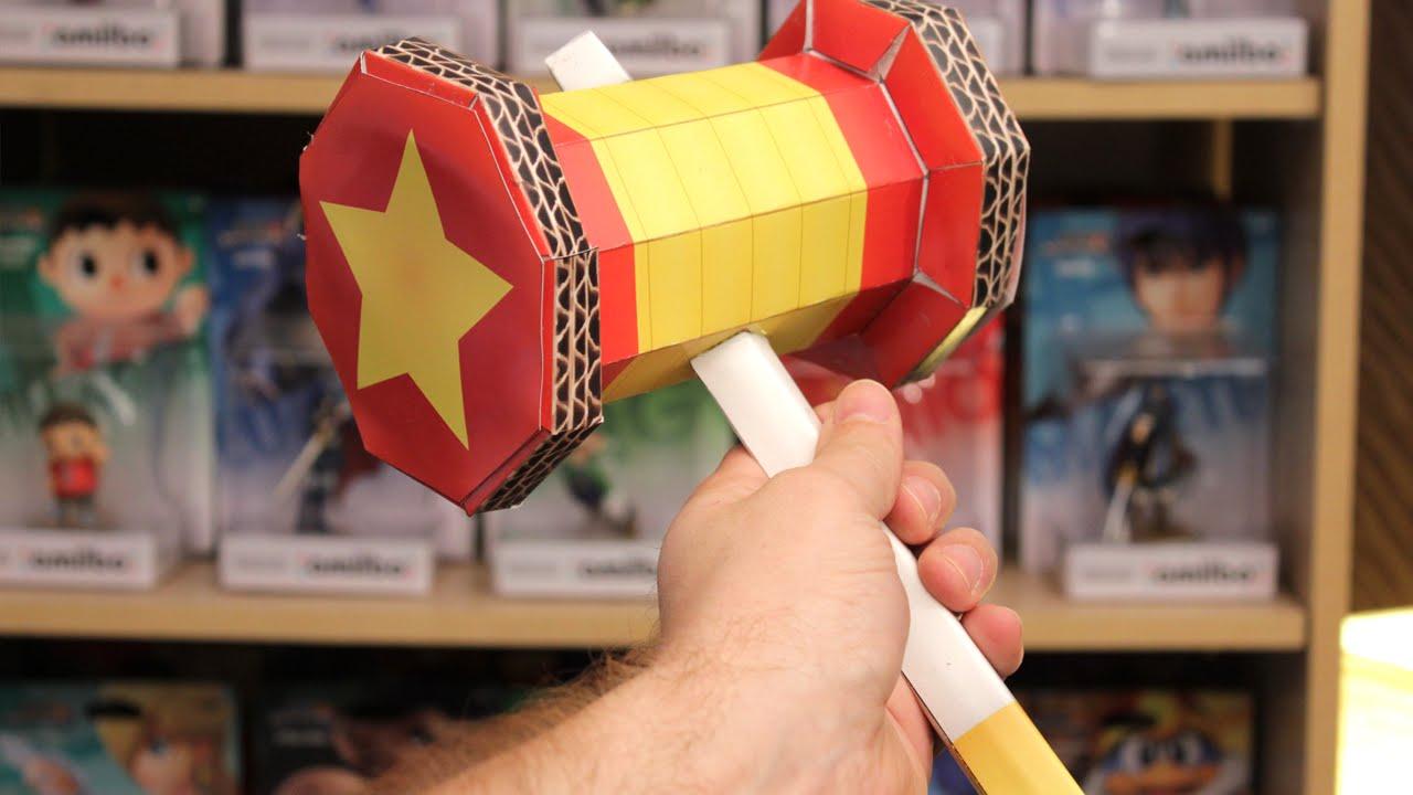 Papercraft Mario & Luigi Paper Jam - Trio Attack Hammer Paper Craft