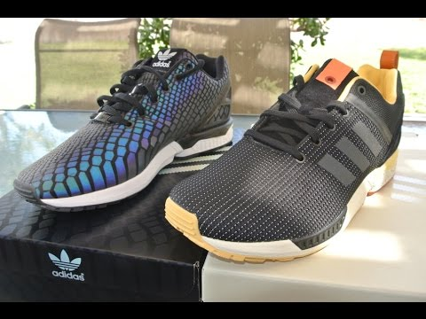 15 Adidas Originals ZX Flux Xeno Green Glow In the Dark Reflective