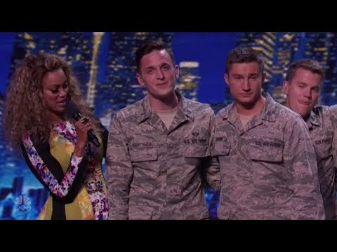 Air-Force Military Vocal Group Get All The Women Very EXCITED! America