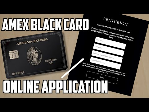 Amex Centurion Card: You Can Now APPLY Online..... Kind Of....