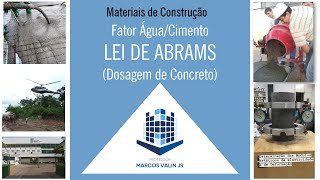 Curva de Abrams do Concreto - Plotar Abrams no Excel - Importância da água no concreto