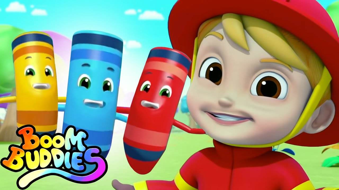 The Colors Song | Learn Colors with Crayons | Nursery Rhymes and Baby Songs with Boom Buddies