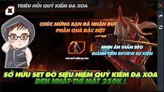 Garena Free Fire  Nhịn ăn giảm béo giành 250k mua full bộ quỷ kiếm dạ xoa có đáng không ???