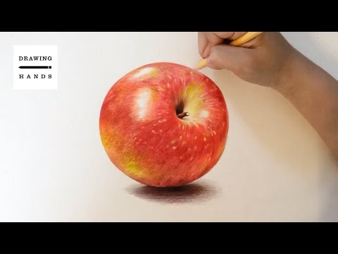 Speed Drawing Apple [Drawing Hands]