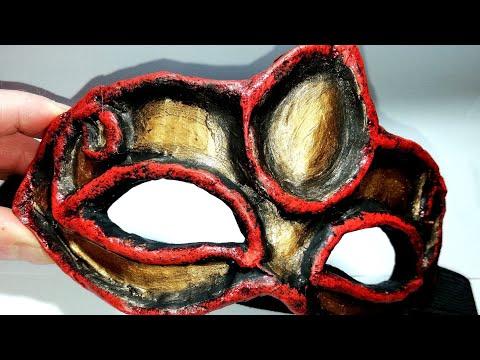 Paper mache antique mask tutorial!